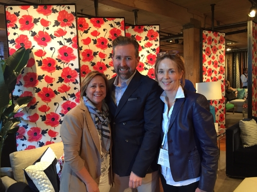 At the Kravet Showroom reception with Clinton Smith, Editor-in-Chief, Veranda Magazine, and LA-based designer Missy Calvert.