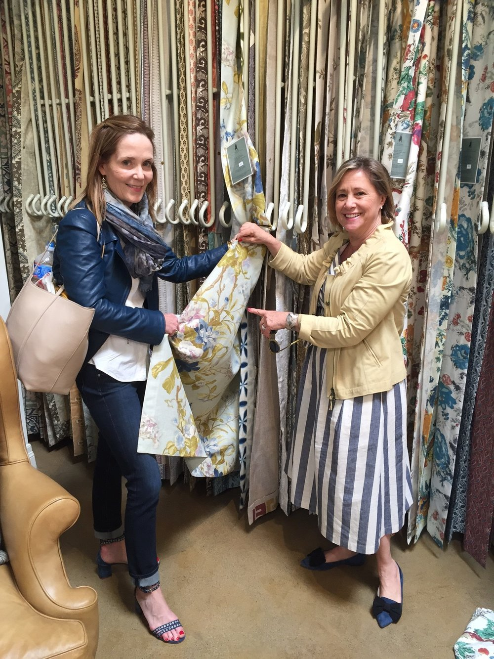 Exploring Jasper textiles with my west coast design partner Missy Calvert